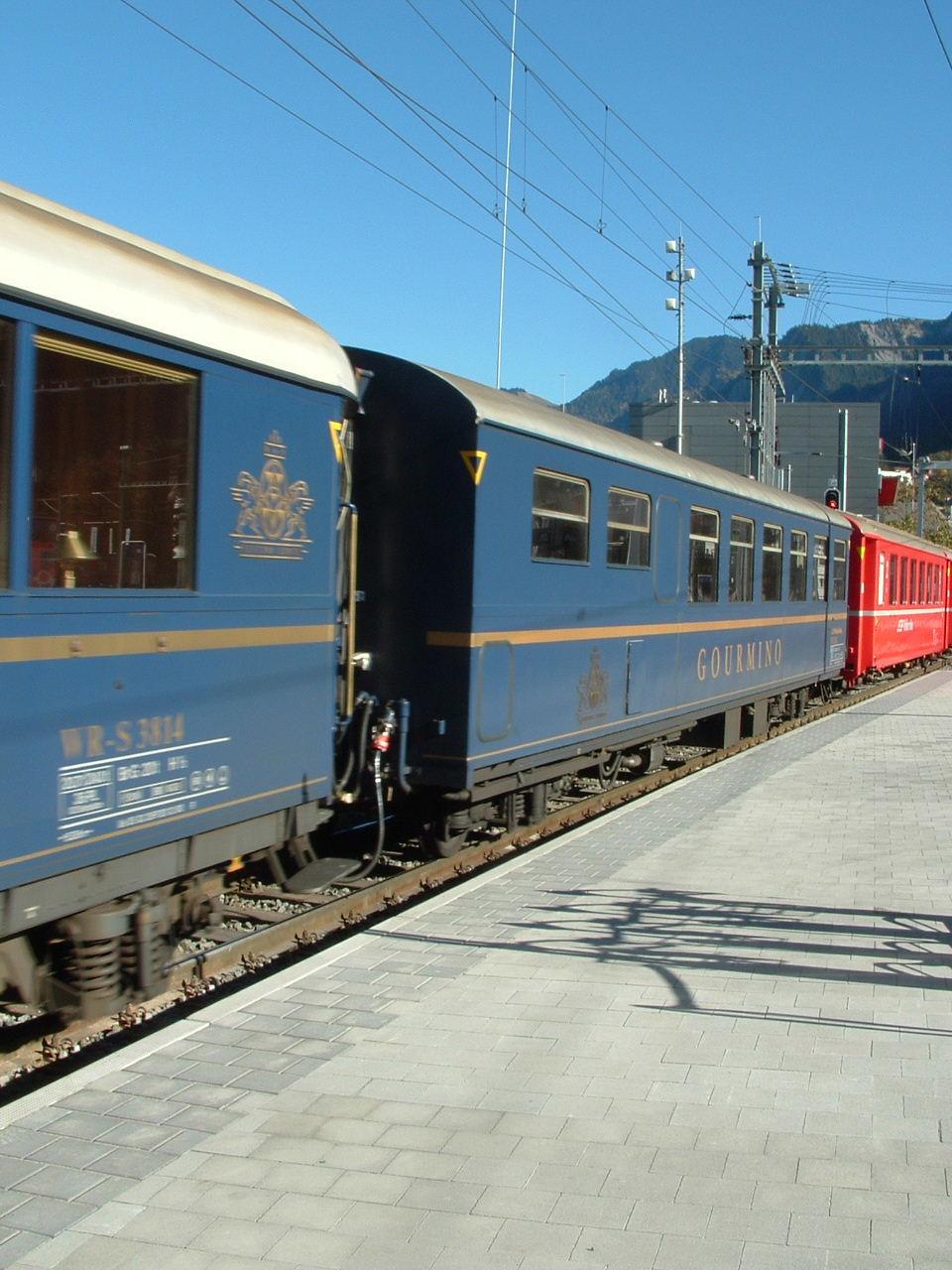2005_Speisewagenfahrt Chur - St. Moritz